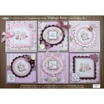 The Hobby House Vintage Rose Floral Card Making Kit - Slight Seconds (UK delivery only)