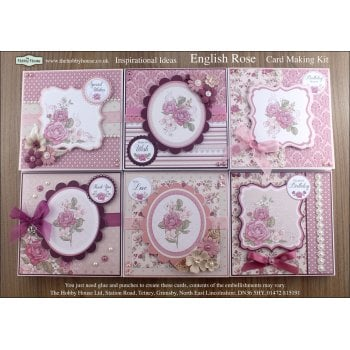 The Hobby House English Rose Floral Card Making Kit SLIGHT SECONDS (UK delivery only)
