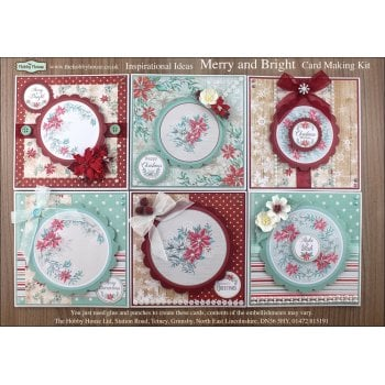 The Hobby House Merry and Bright Cardmaking Kit (UK Delivery Only)