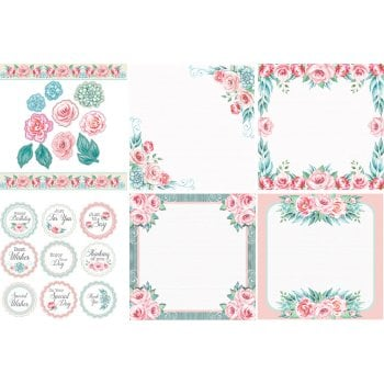The Hobby House Rose Wood Decorative Panels and Die-cuts SLIGHT SECONDS
