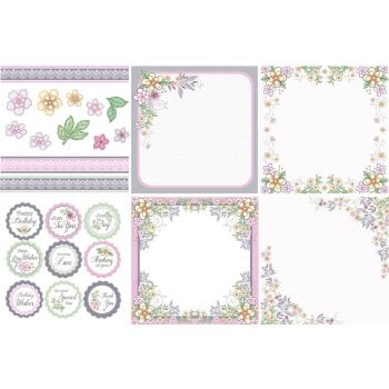 The Hobby House Summer Wish Decorative Panels and Die-cuts