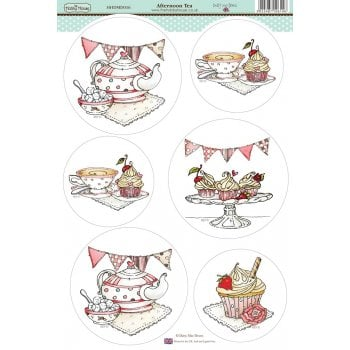 The Hobby House Daisy Mae Draws Card Toppers - Afternoon Tea SLIGHT SECONDS