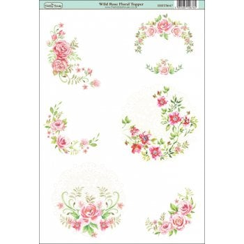 The Hobby House Wild Rose Floral Topper SLIGHT SECONDS