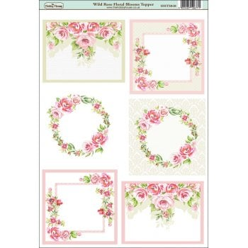 The Hobby House Wild Rose Floral blooms Topper SLIGHT SECONDS