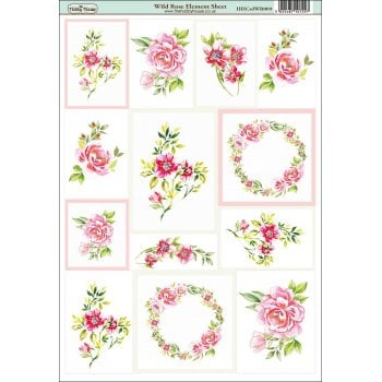 The Hobby House Wild Rose Element Sheet