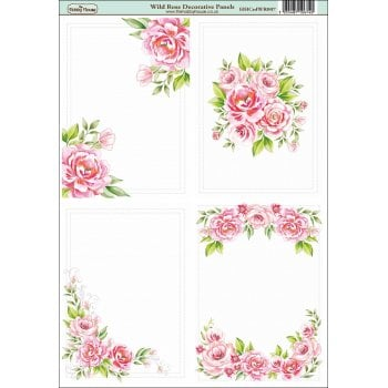 The Hobby House Wild Rose A6 Decorative Panels