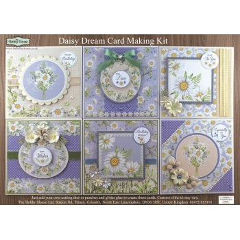 Daisy Dreams Card Making Kit SLIGHT SECONDS (UK Delivery Only)
