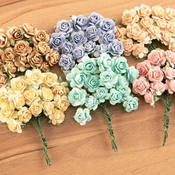 The Hobby House Mulberry Roses Pretty Pastels Set (90 Roses)