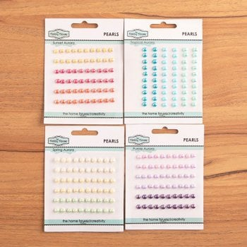 The Hobby House Aurora Self Adhesive 5mm Pearls