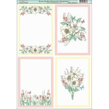 The Hobby House Secret Garden Decorative Panels Set 1