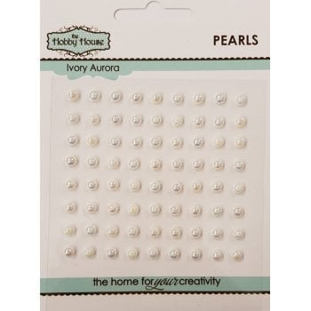 The Hobby House Self Adhesive Pearls - 4mm Ivory Aurora SLIGHT SECONDS