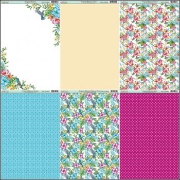 The Hobby House Tropical Blooms Paper Collection