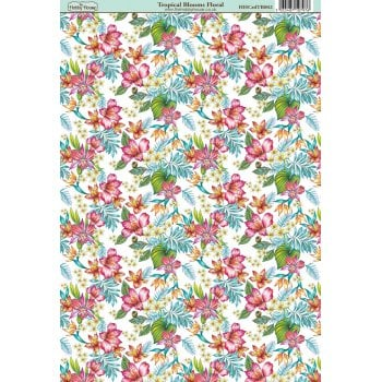 The Hobby House Tropical Blooms Floral Paper