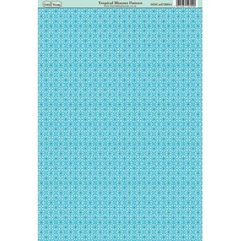 The Hobby House Tropical Blooms Pattern Paper