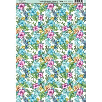 The Hobby House Tropical Blooms Hibiscus Paper
