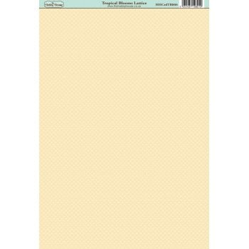 The Hobby House Tropical Blooms Lattice Paper