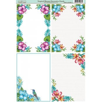 The Hobby House Tropical Blooms A6 Decorative Panels