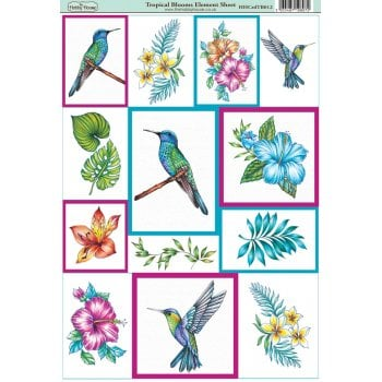 The Hobby House Tropical Blooms Element Sheet