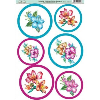 The Hobby House Tropical Blooms Floral Topper
