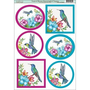The Hobby House Tropical Blooms Hummingbird Topper