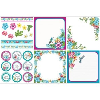 The Hobby House Tropical Blooms Decorative Panel Set