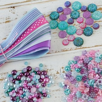 The Hobby House Pink Cyan Embellishment Pack