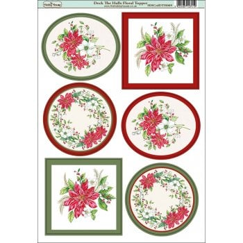 The Hobby House Deck the Halls Floral Topper SLIGHT SECONDS