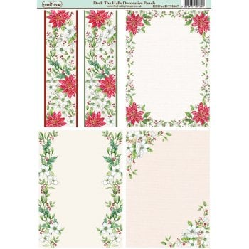The Hobby House Deck the Halls Paper A6 Decorative Panels