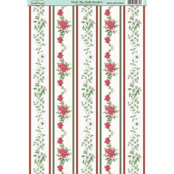 The Hobby House Deck the Halls Border Paper