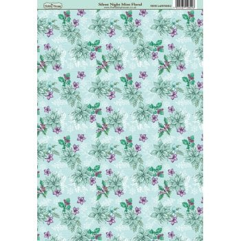 The Hobby House Silent Night Mint Floral Patterned Paper