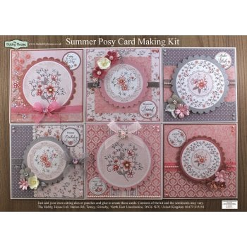 The Hobby House Summer Posy Floral Card Making Kit (UK DELIVERY ONLY)
