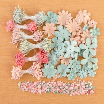 The Hobby House Spring Mint Embellishment Collection