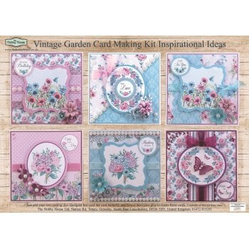 The Hobby House Vintage Garden Card Making Kit (UK DELIVERY ONLY)