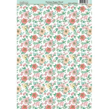 The Hobby House Parisian Poppy Floral Paper
