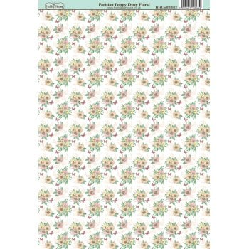 The Hobby House Parisian Poppy Ditsy Floral Paper