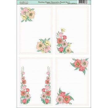 The Hobby House Parisian Poppy Decorative Panels Set 2