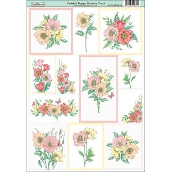 The Hobby House Parisian Poppy Element Sheet