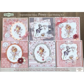 The Hobby House Posey Card Making Kit SLIGHT SECONDS (UK Delivery Only)