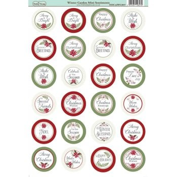 The Hobby House Winter Garden Die-Cut Mini Circle Sentiments