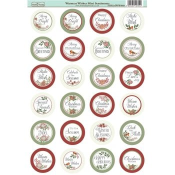 The Hobby House Warmest Wishes Die-Cut Mini Circle Sentiments Slight Seconds