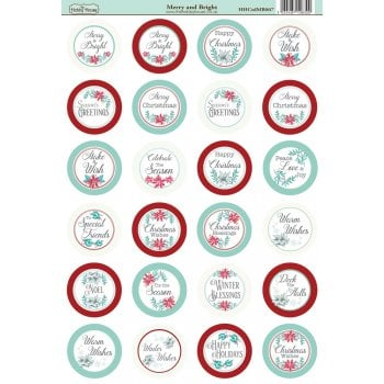 The Hobby House Merry and Bright Die-Cut Mini Circle Sentiments Slight Seconds