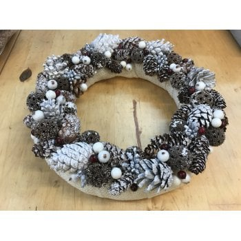 The Hobby House Winter Berries, Pine Cones and Polystyrene Wreath Set SLIGHT SECONDS