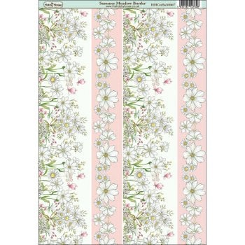 The Hobby House Summer Meadow Border Paper