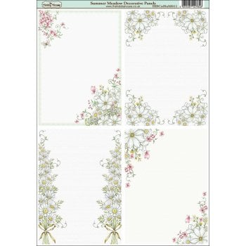The Hobby House Summer Meadow A6 Decorative Panels