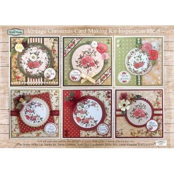 The Hobby House Vintage Christmas Floral Card Making Kit (UK Delivery Only)