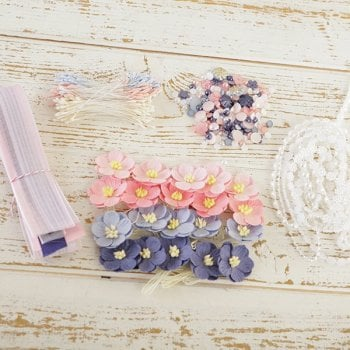 The Hobby House Indigo Pink Embellishment Pack