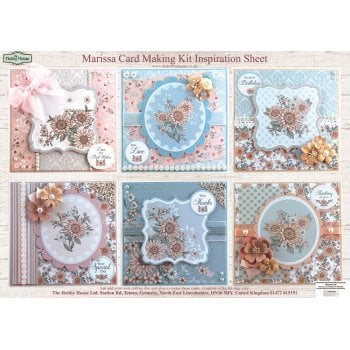 The Hobby House Marissa Floral Card Making Kit SLIGHT SECONDS (UK DELIVERY ONLY)