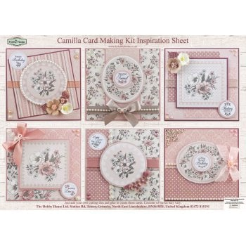 The Hobby House Camilla Floral Card Making Kit (UK DELIVERY ONLY)