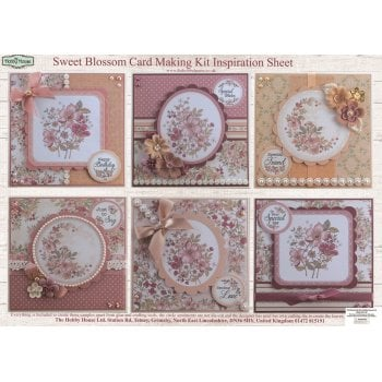 The Hobby House Sweet Blossom Floral Card Making Kit (UK DELIVERY ONLY) Slight Seconds