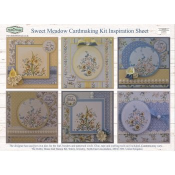 The Hobby House Sweet Meadow Floral Card Making Kit (UK DELIVERY ONLY)